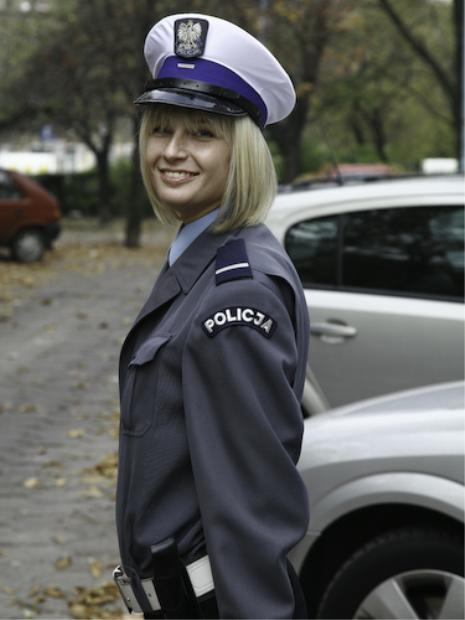 Polish policewoman