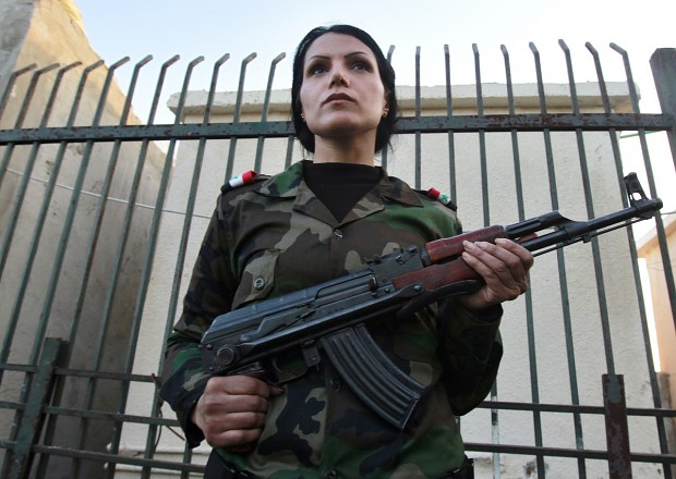 Syrian Female Soldiers (Bashar al-Assad Fighters)