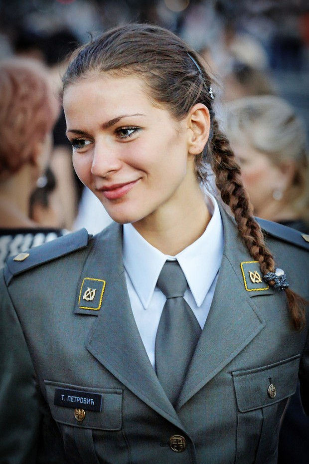serbian female sub-lieutenant image