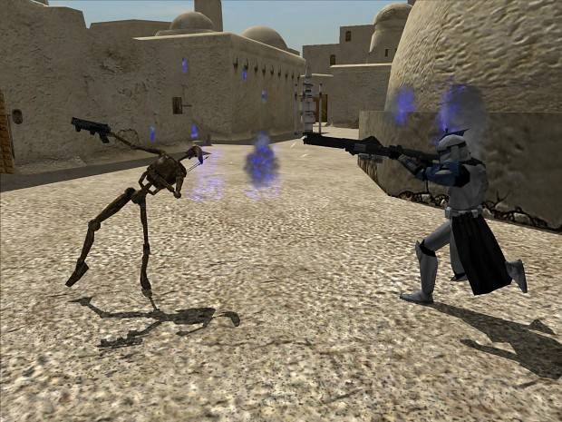 Clone Trooper killed Droid