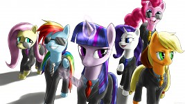 The Mane 6 - Suited And Suave