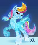 crystal pony (rainbow dash)