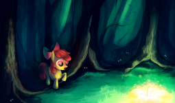 Applebloom in the everfree forest