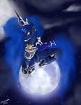 Princess Luna on the moon