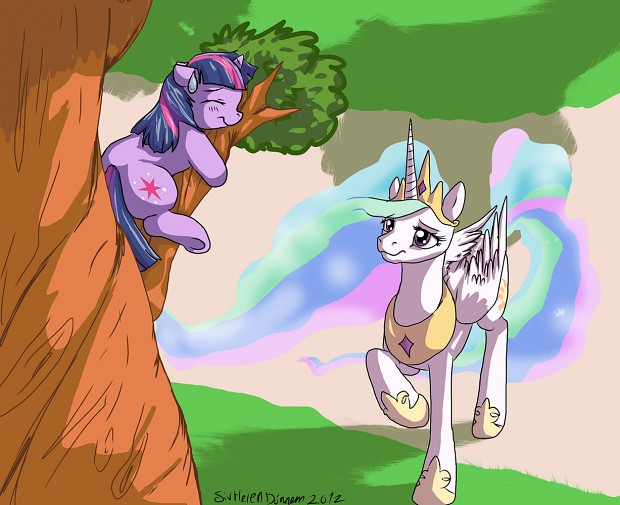 Twilight Stuck In A Tree