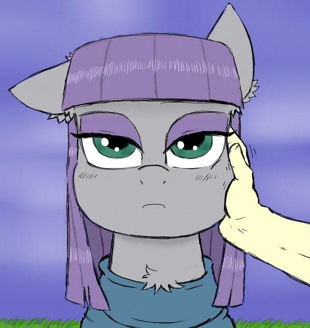 Maud will not simile even for an cheek rub