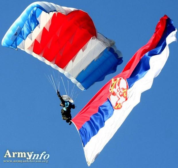 Serbian Paratroopers