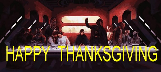 To those that partake in Turkey Day......... StarWarsThanksgivingfamily-1