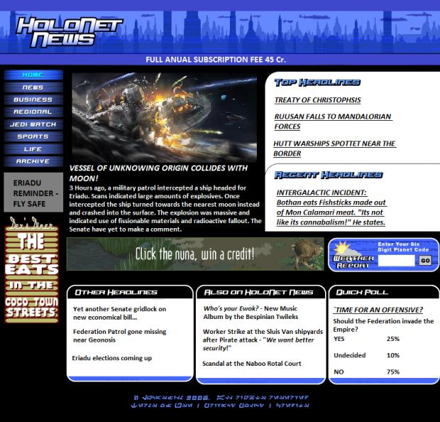 Holonet News - Attempted Attack on Eriadu?