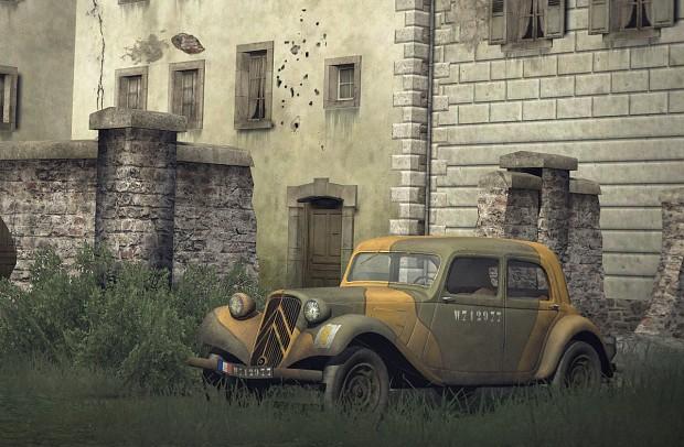 """Citroën 11cv """"Traction Avant"""" de liaison"""