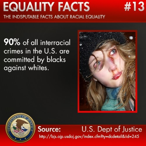 90% of all Interracial Crimes committed in the US are Blacks on Whites