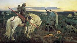 """V.M. Vasnetsov - """"Vityaz at the crossroads"""""""