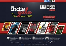 Indie Gala website (top)
