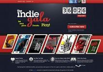Indie Gala website (top)