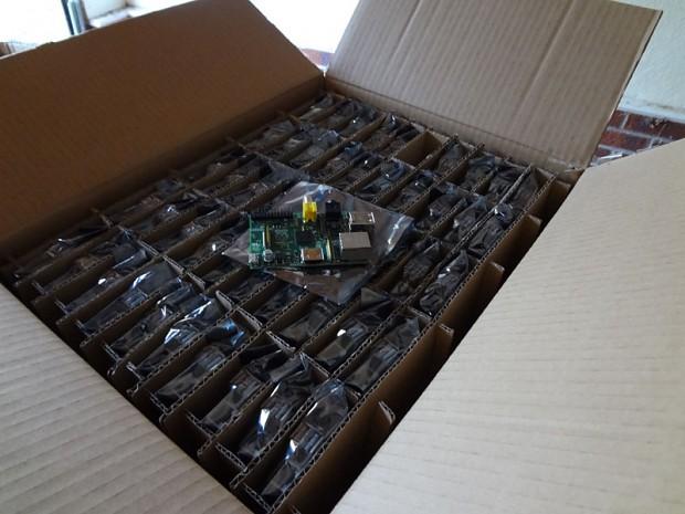 Box of Raspberry Pis