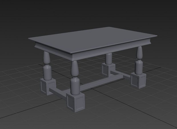 Hi-Poly Table.