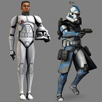 Fives the trooper to Five the ARC trooper