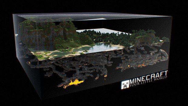 Epic Minecraft Cross-Section Wallpaper