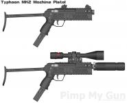 Typhoon MK2 Machine Pistol