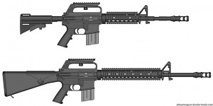 Modernized M16A1 and CAR-15