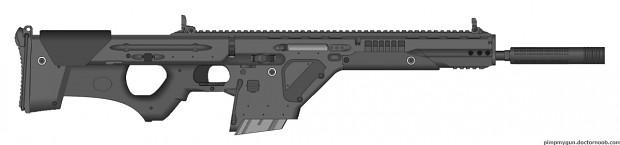 Heavy Duty Arms Battle Rifle - HDA-67