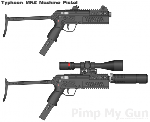 Typhoon MK2 Machine Pistol