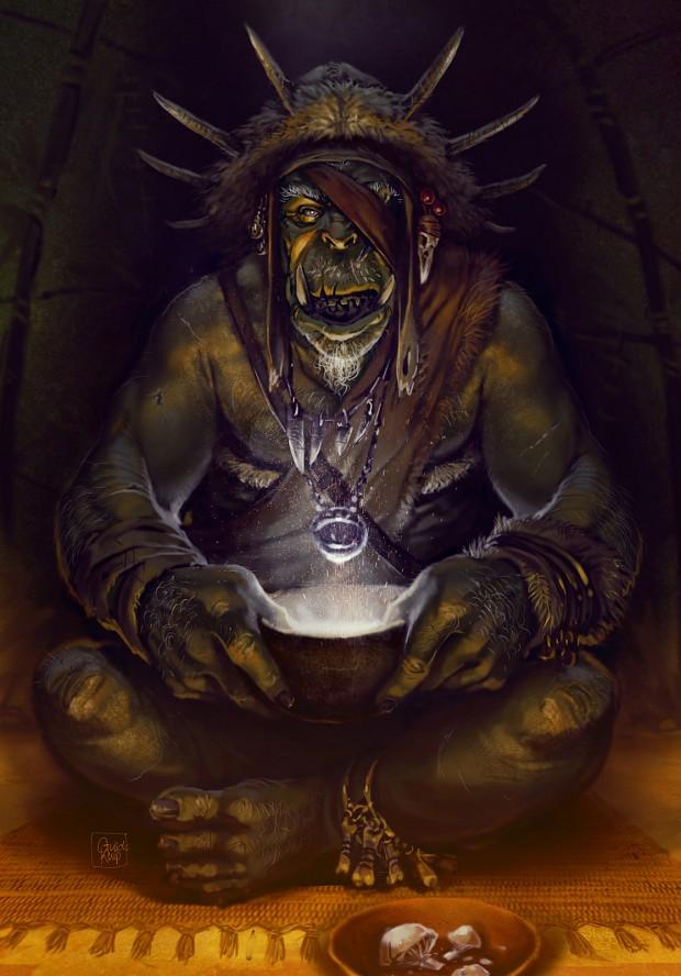 ork shaman art