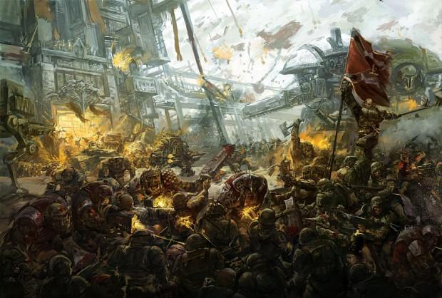 Orks vs Imperial guard