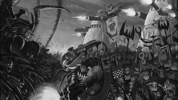 orks vs tyranids art