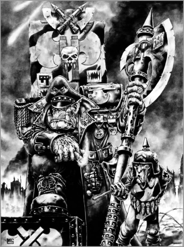 Ork kommissar brutal blood axe