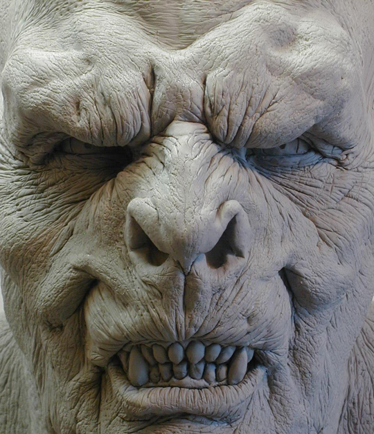 Orc face close up