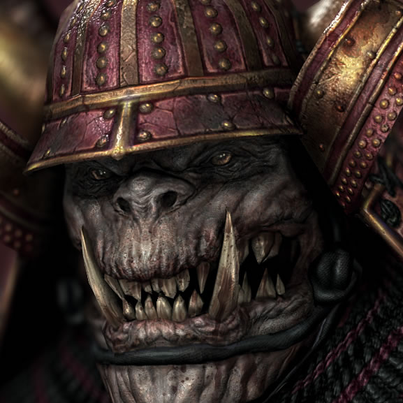 orc samurai image orc clan and orks fantasy and monsters