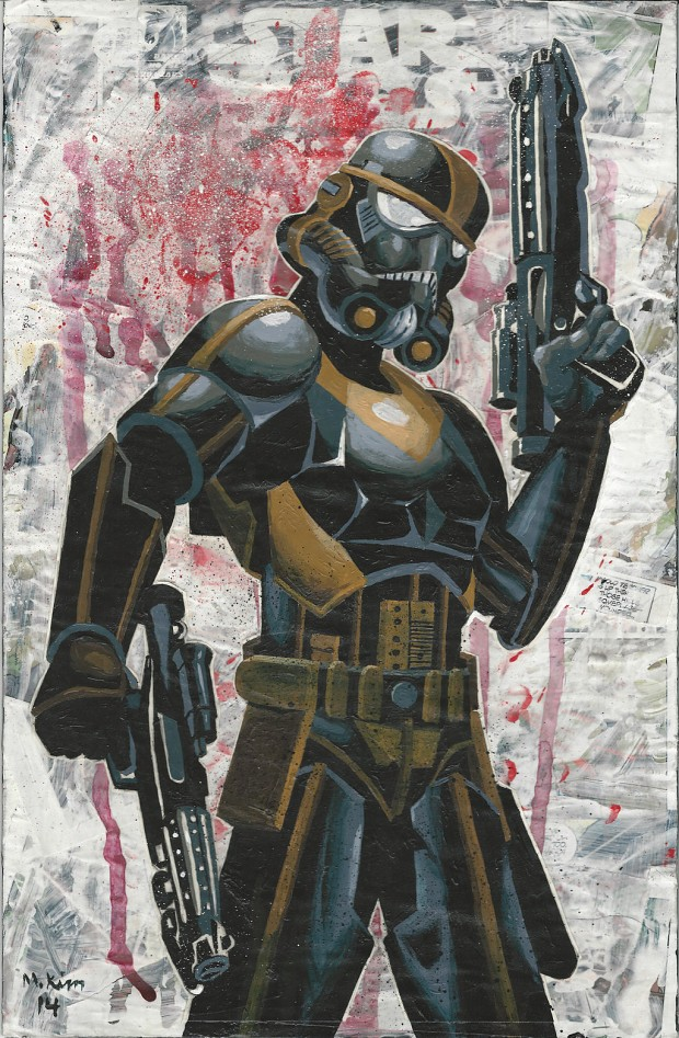 Female Storm Trooper Art