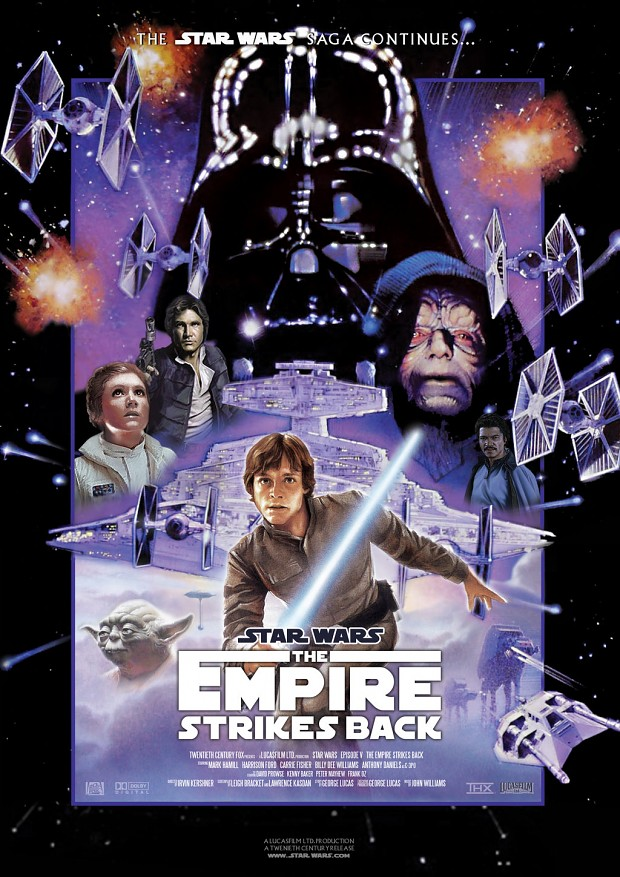 Star Wars V Empire Strikes Back Movie Poster 2
