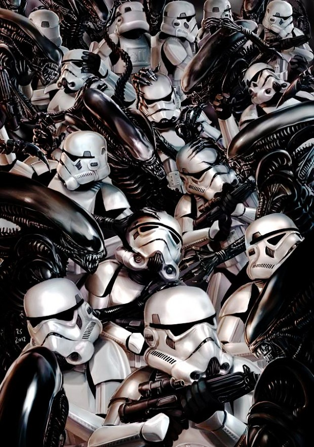 Stormtroopers Vs Aliens By Rhymesyndicate D P Qw on 3 Way Crossover