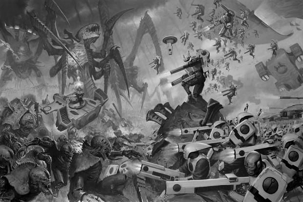 Tyranid swarm image - Warhammer 40k Tyranids Group - Mod DB