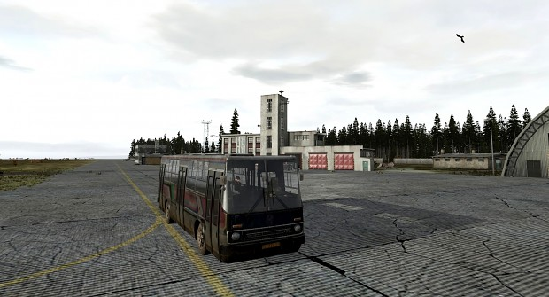 Driving a bus at the north/west airfield