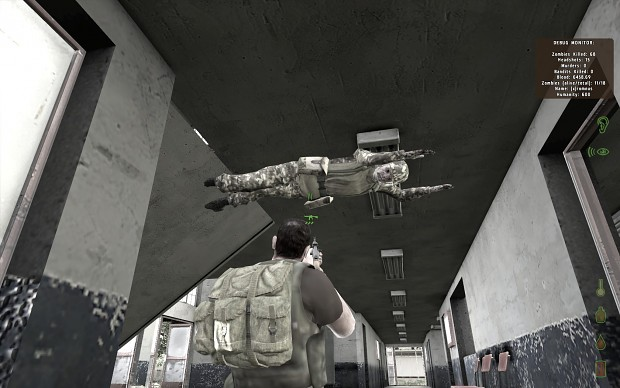 Zombie stuck to the ceiling XD