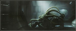 prometheus movie concept art facehugger