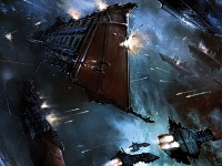 Warhammer 40k - Spaceships Battle Artwork