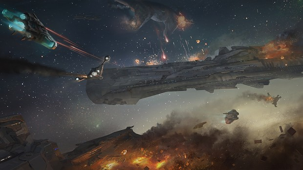 Amazing Wallpapers - Spaceships Battle