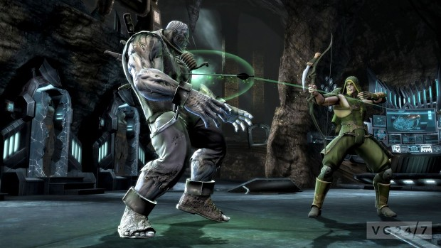 injustice gods among us  grundy vs green arrow