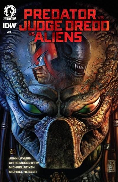 Predator vs  Judge Dredd vs  Aliens cover 2016