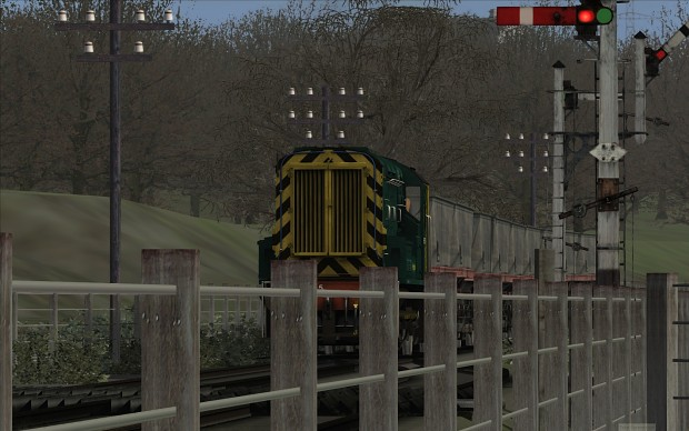 Class 08 shunter in action