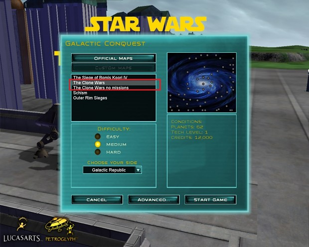 Clone Wars Submod Campaign Guide part 2