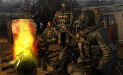 Mercenaries by the campfire