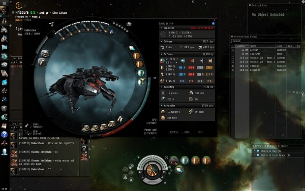 My fancy new ship in EVE.