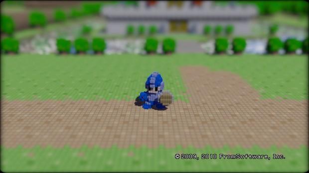 Megaman in 3D Dot Game Heroes