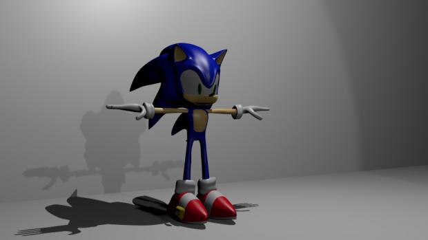 Modern Sonic created in Blender