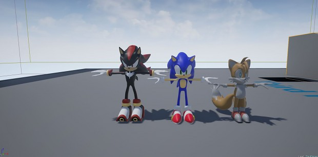 Sonic, Shadow, Tails on the Unreal 4 Engine.
